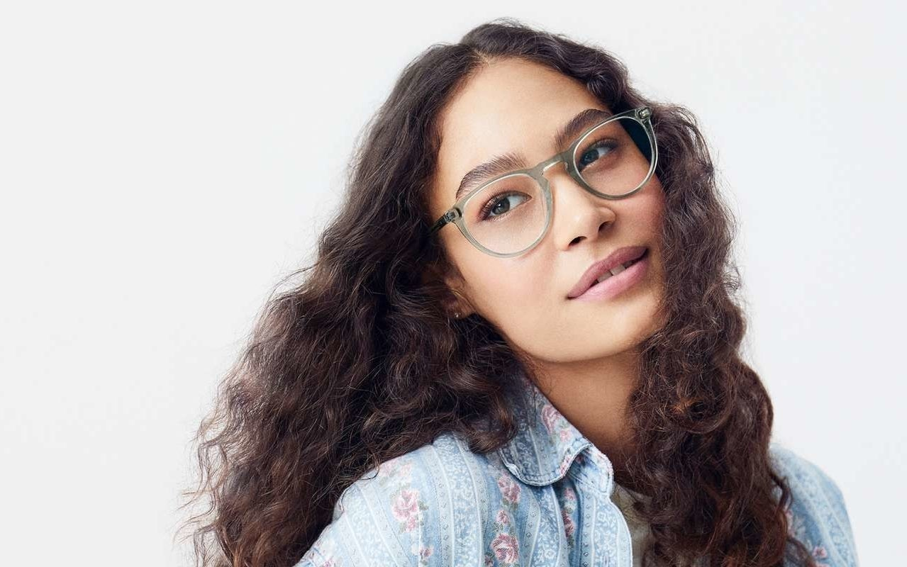 Model wearing their Haskell style glasses