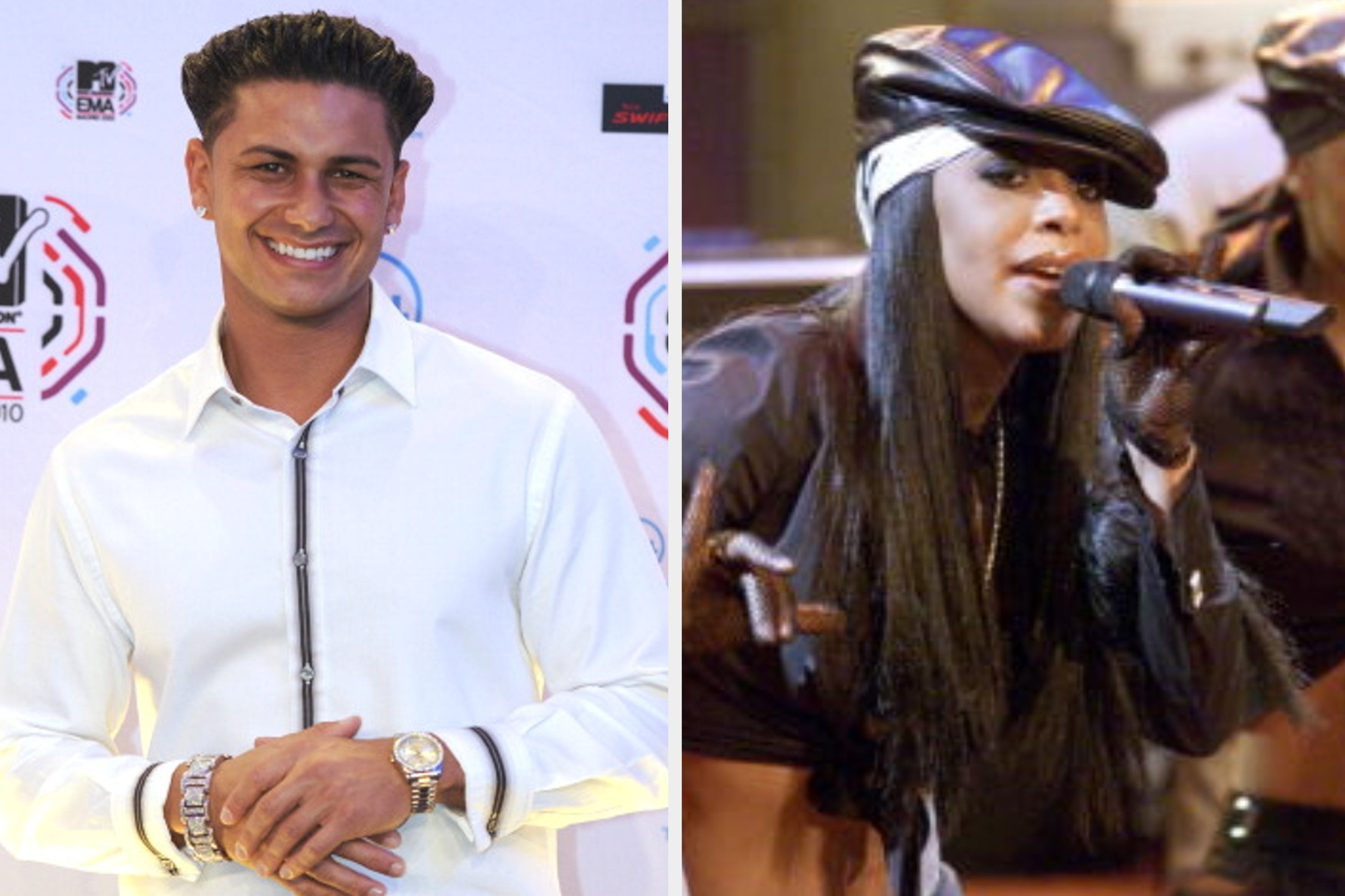 Pauly D from Jersey Shore and Aaliyah