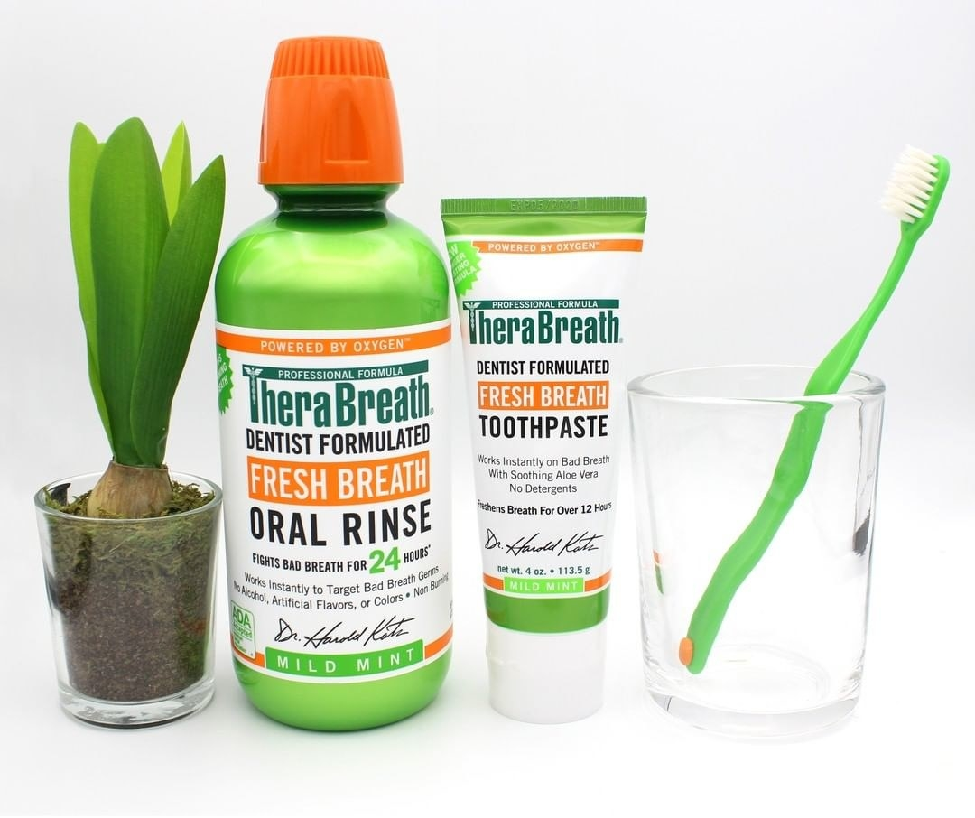 The TheraBreath mouthwash