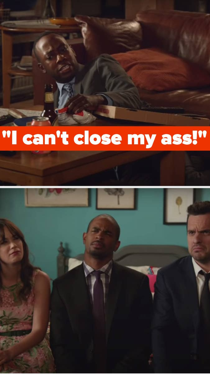 """Winston says, """"I can't close my ass"""" and Jess, Coach and Nick are confused"""