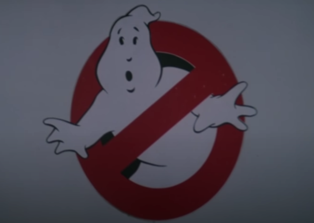 Ghostbusters symbol of a ghost with a red line through it