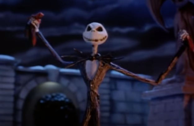 Jack Skellington smiles in