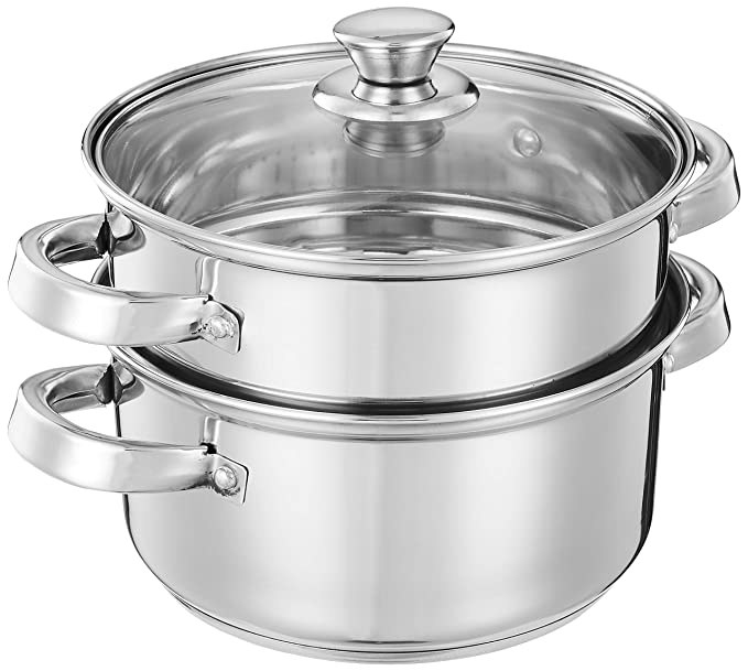 Two layer steel steamer.
