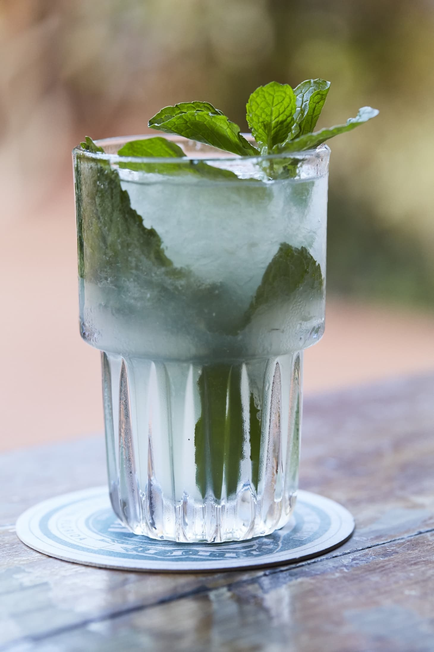 A glass of mojito