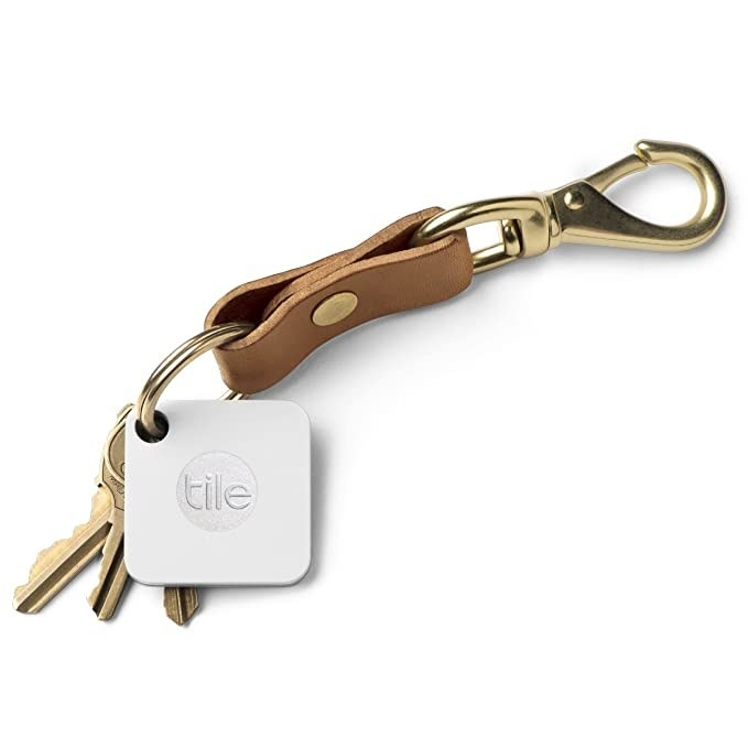 Tile mate hooked to a keychain.