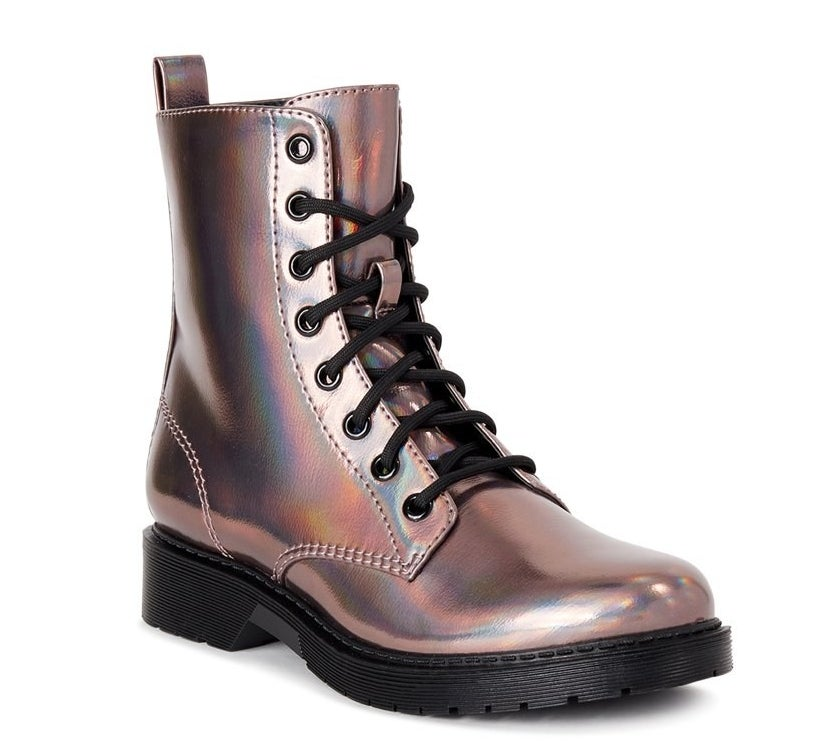 Metallic lug booties
