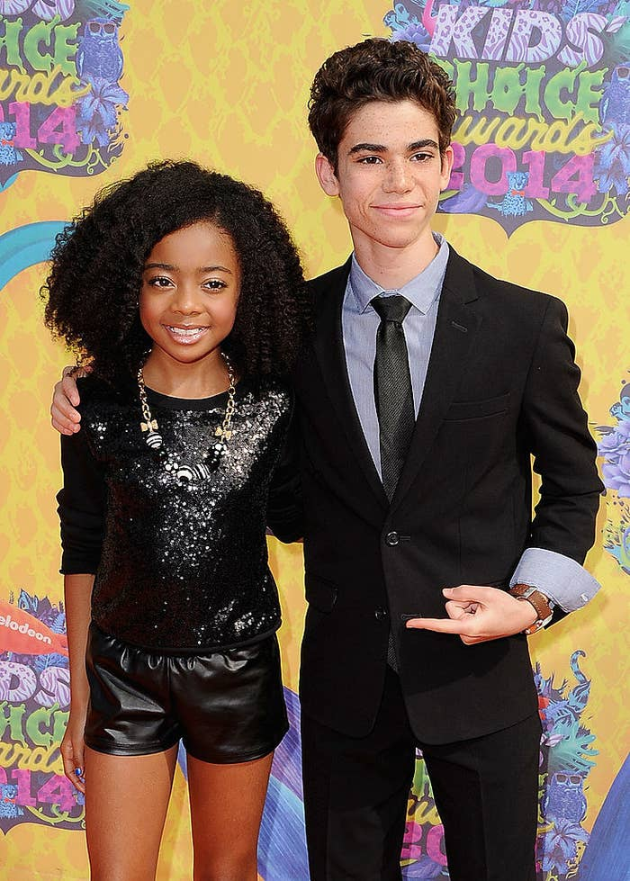 Skai Jackson and Cameron Boyce at the Kids' Choice Awards together in 2014