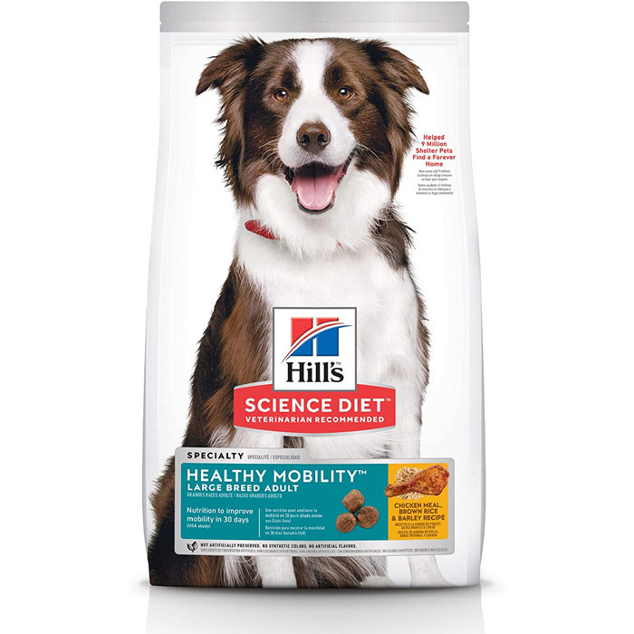 bag of hill's scient diet healthy mobility dog food for large breed dogs