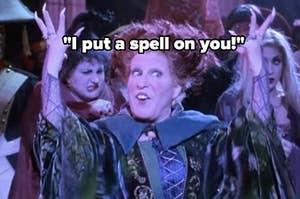 """I put a spell on you"" hocus pocus image"