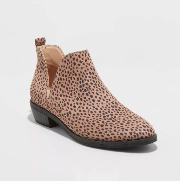 Cheetah print ankle boot
