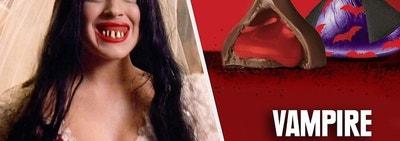 Katy Heron from Mean Girls as a Hershey vampire kiss