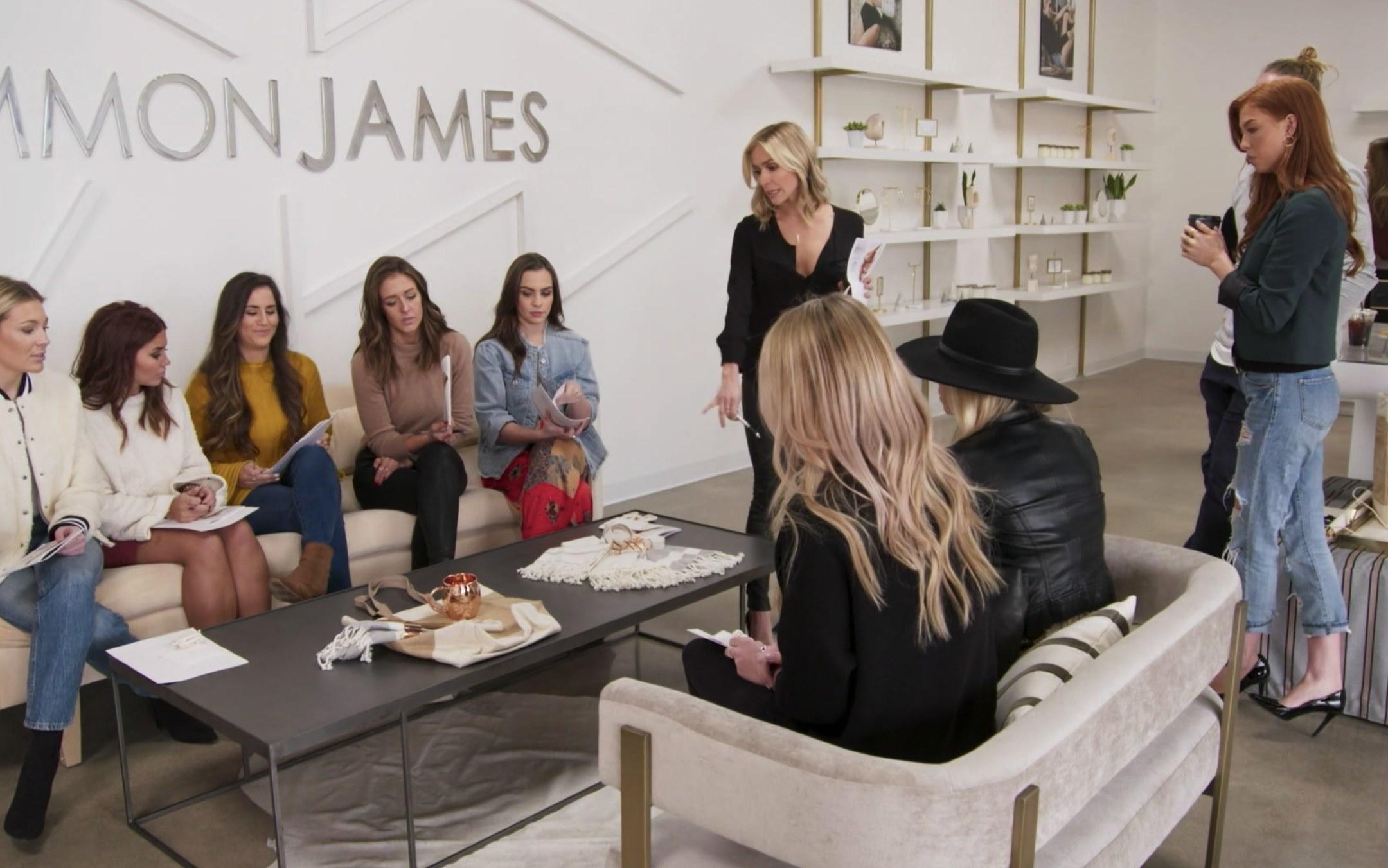 Kristin Cavallari has a team meeting at her store Uncommon James