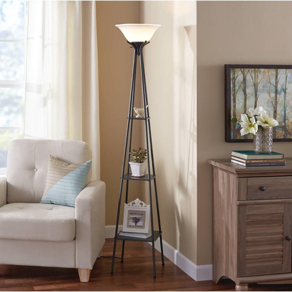 The shelf floor lamp