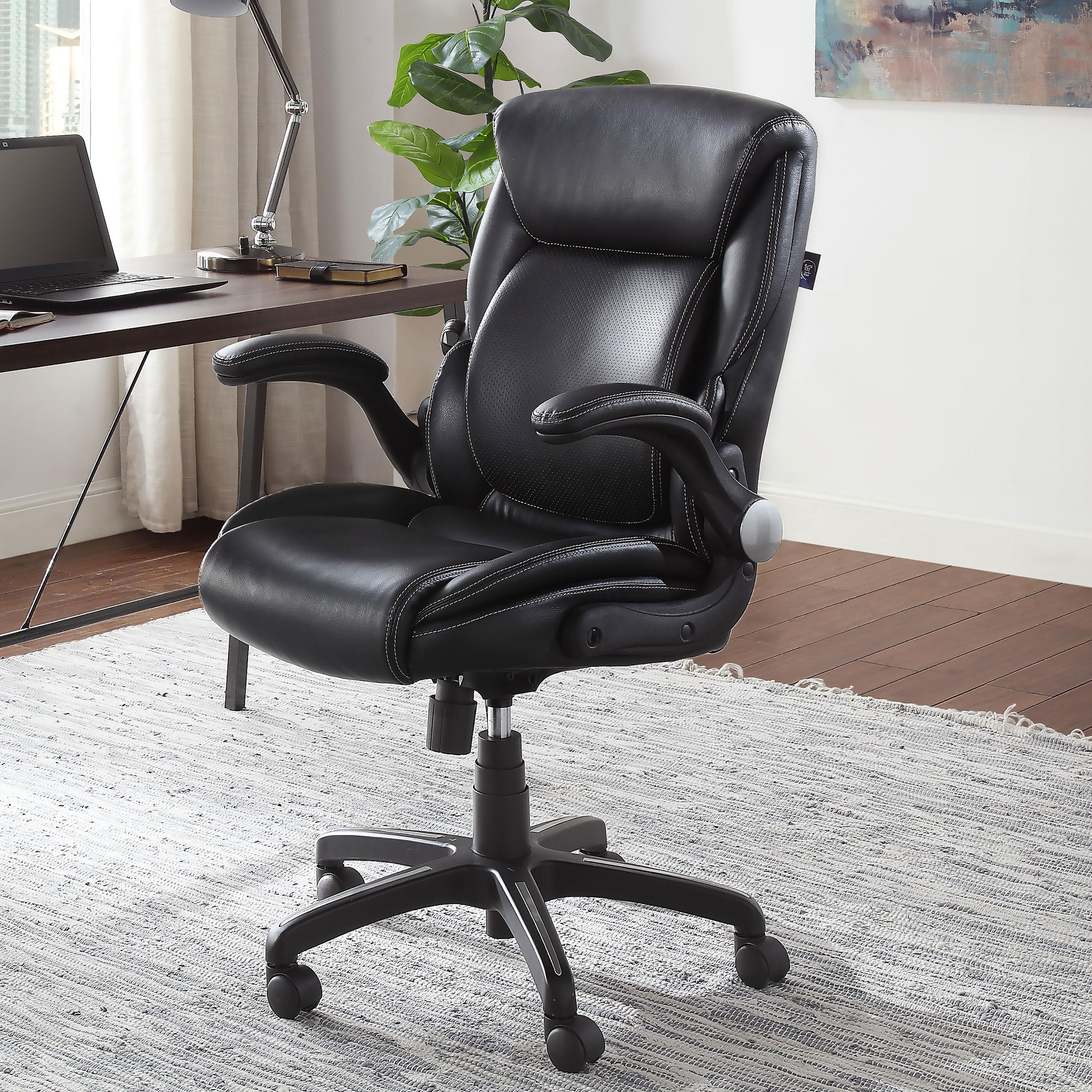 The office chair in the color black
