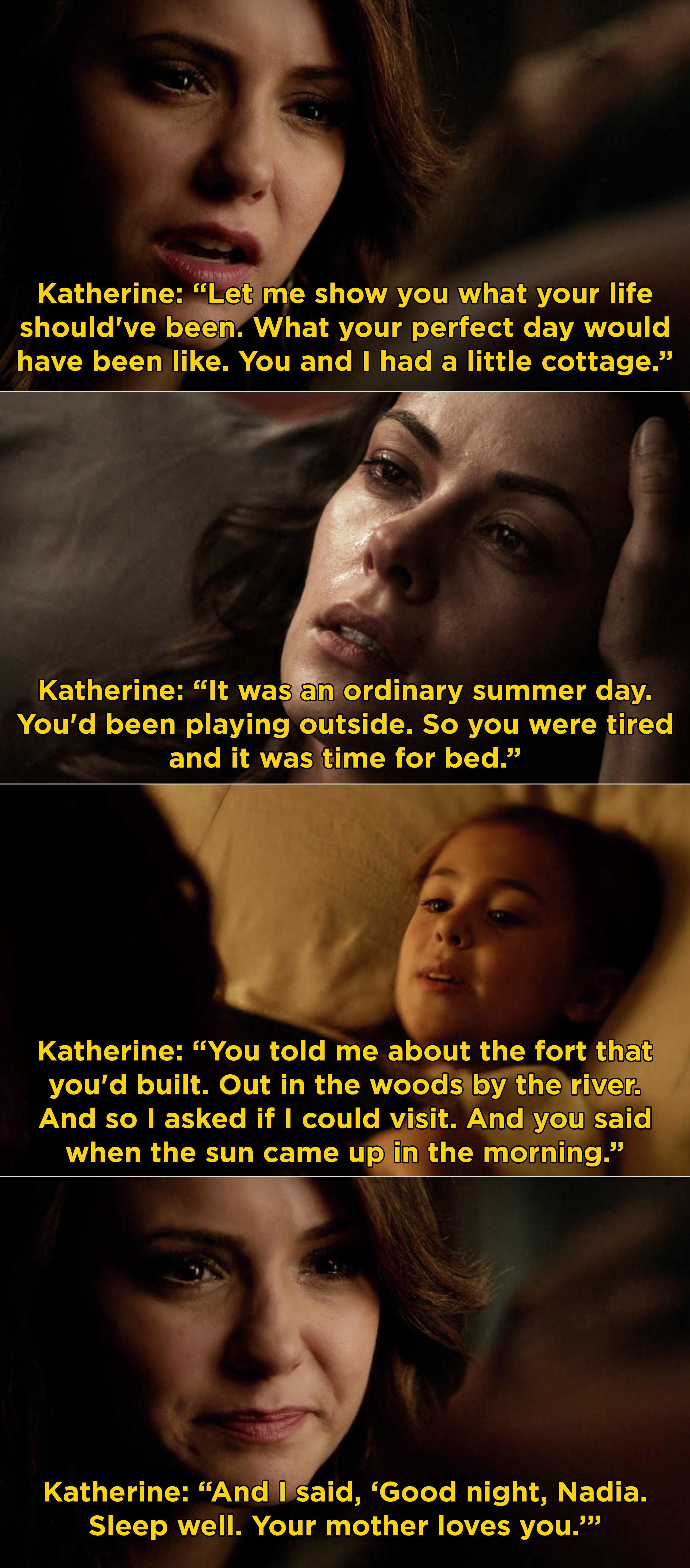 Katherine comforting Nadia before she dies