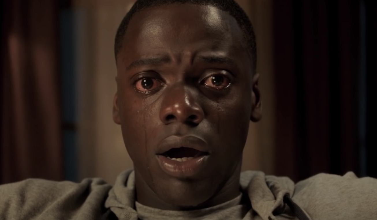 "Chris crying in ""Get Out"" while he is being hypnotized by Missy"