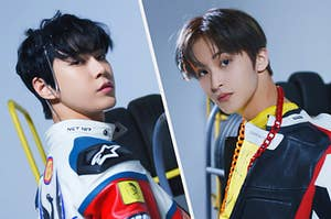 Images of Doyoung and Mark from NCT 127