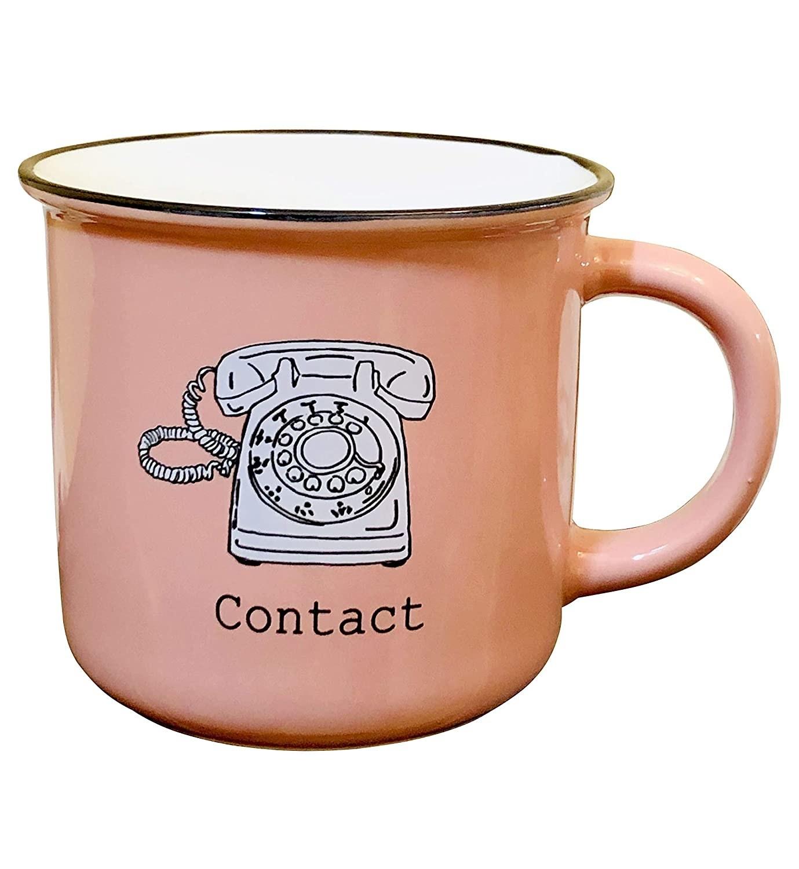 A pink mug
