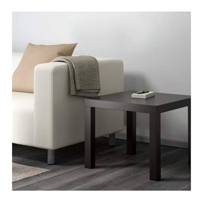A black side table