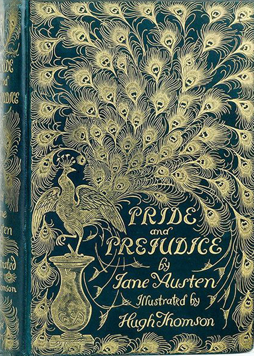 A cover of Pride and Prejudice by Jane Austen as shown on Project Gutenberg