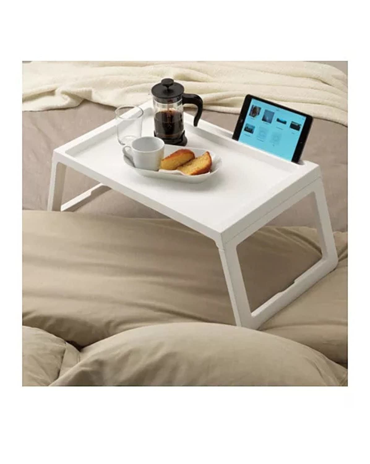 A white lap desk