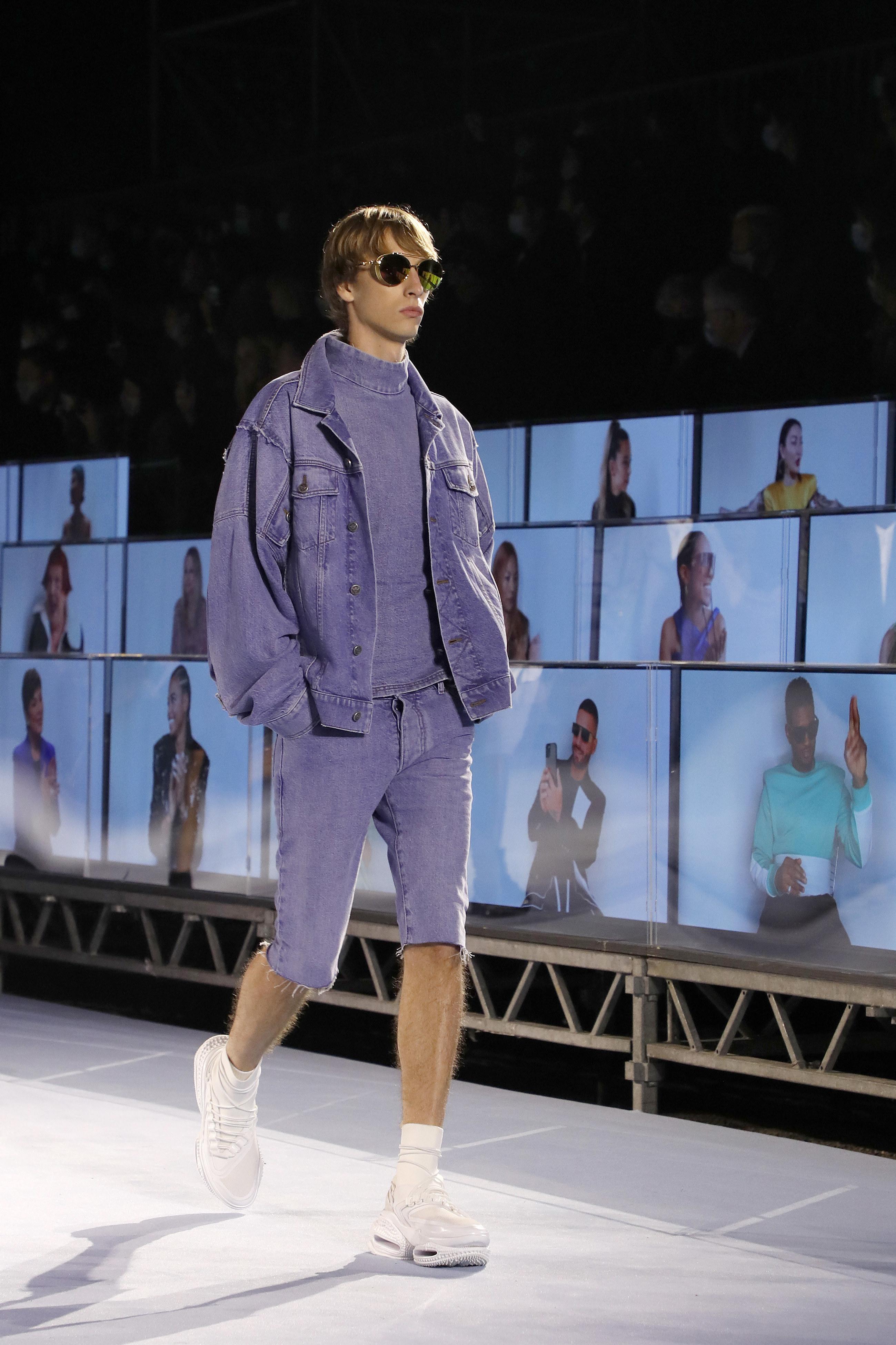 Atmosphere during the Balmain fashion show during Paris Women's Fashion Week Spring/Summer 2021