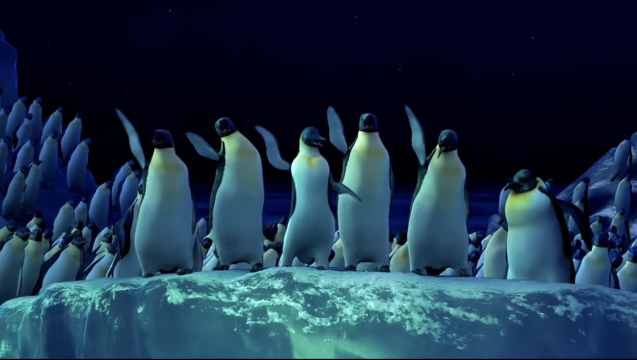 the penguins dancing under the stars