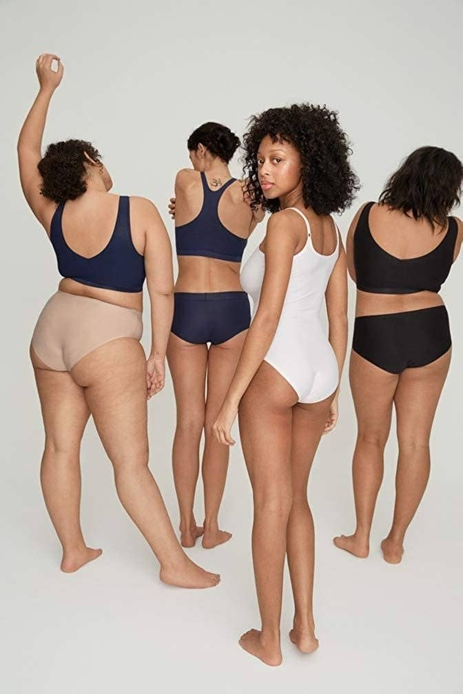 A variety of models wearing the underwear