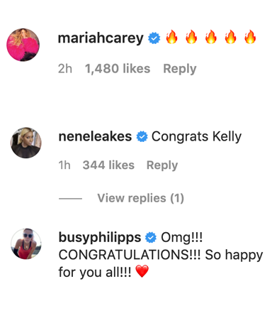 Mariah Carey, Nene Leakes, and Busy Philipps all wishing her well