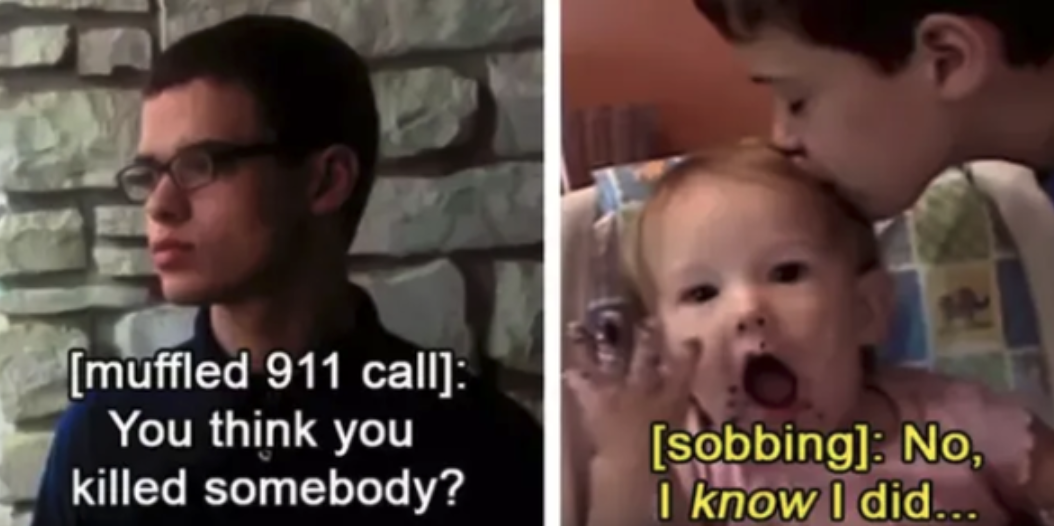 Paris Bennet on a muffled phone call with 9-1-1, revealing that he killed his sister