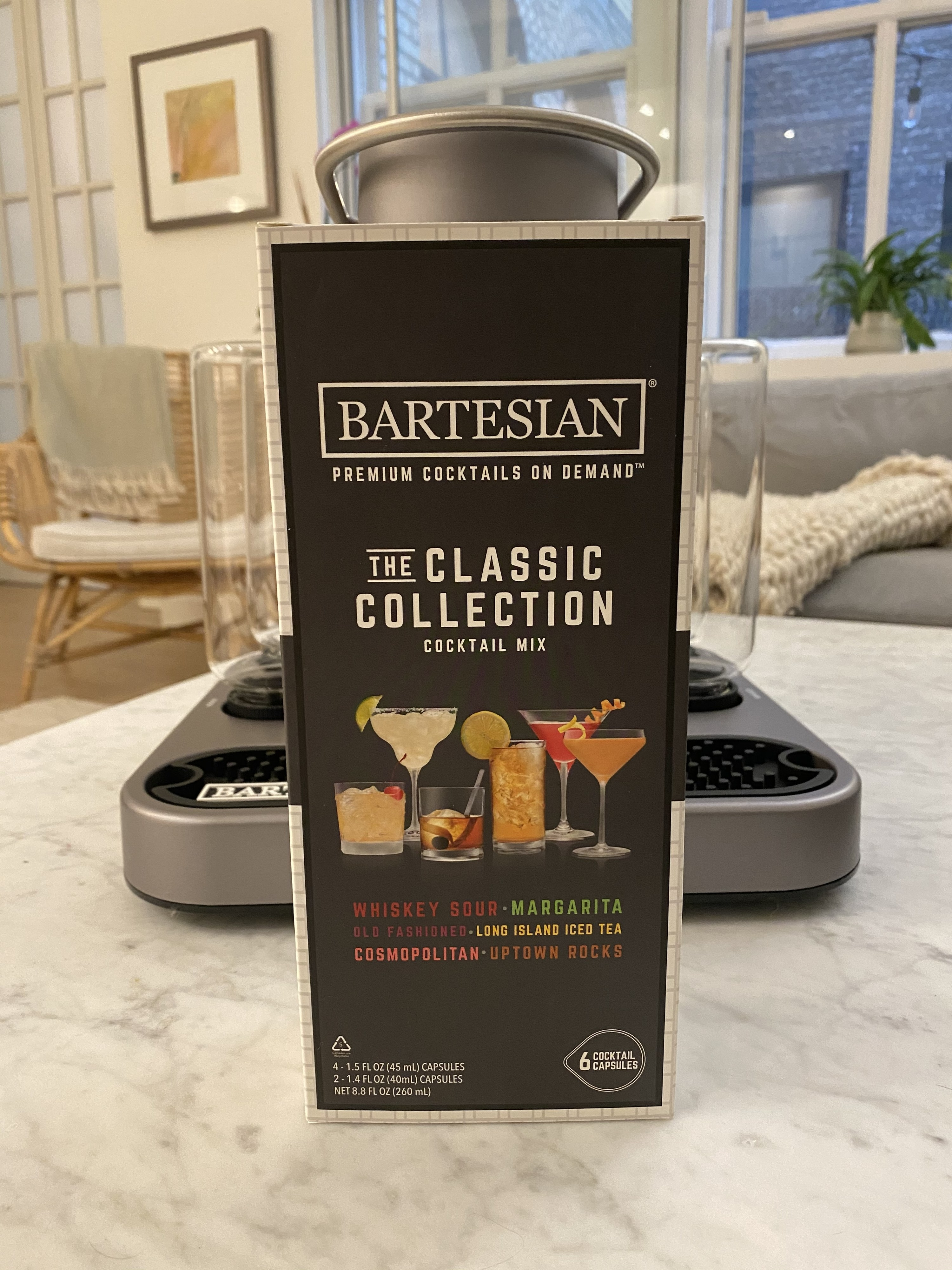 The classic collection of cocktail capsules that fit into the Bartesian machine.