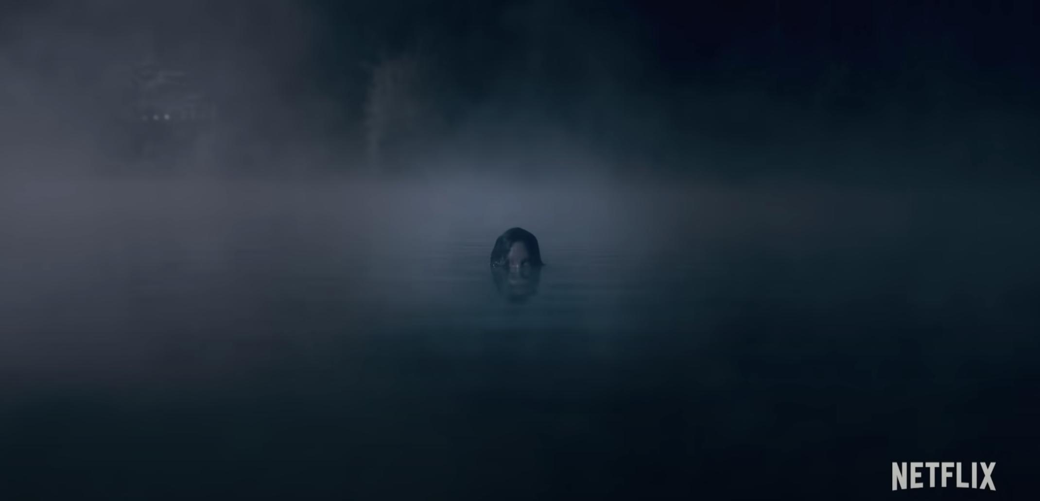 A woman in a creepy lake