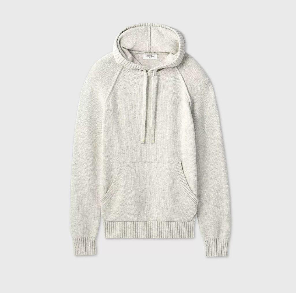 Light gray sweater hoodie