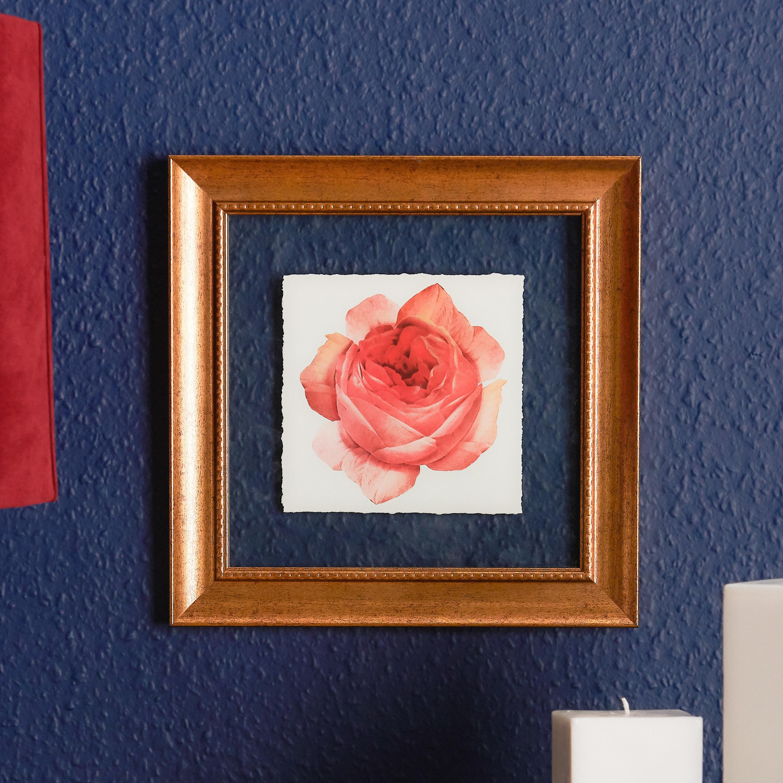 The framed art hanging