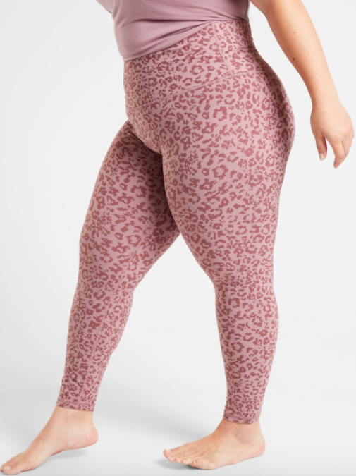 pink leggings with leopard print