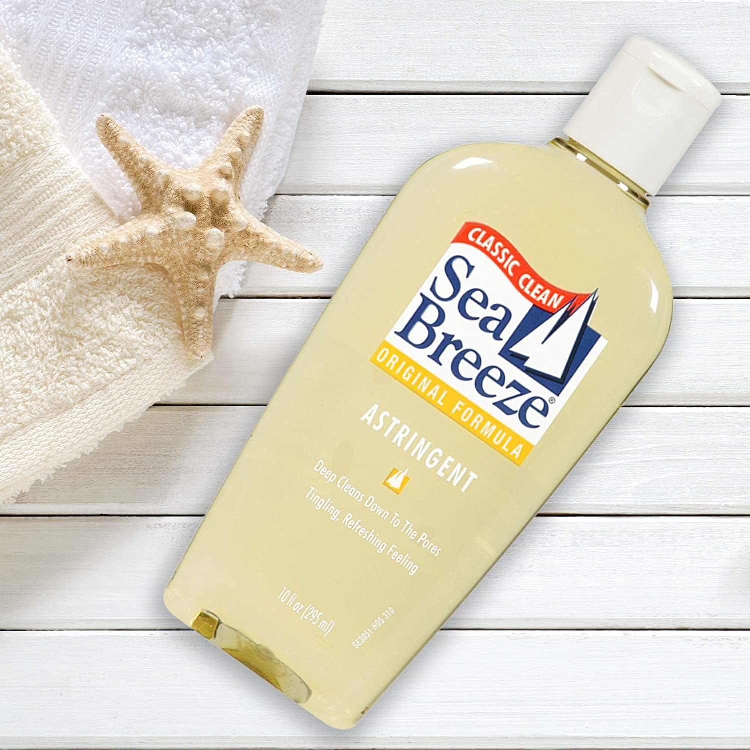 A bottle of Sea Breeze classic clean astringent