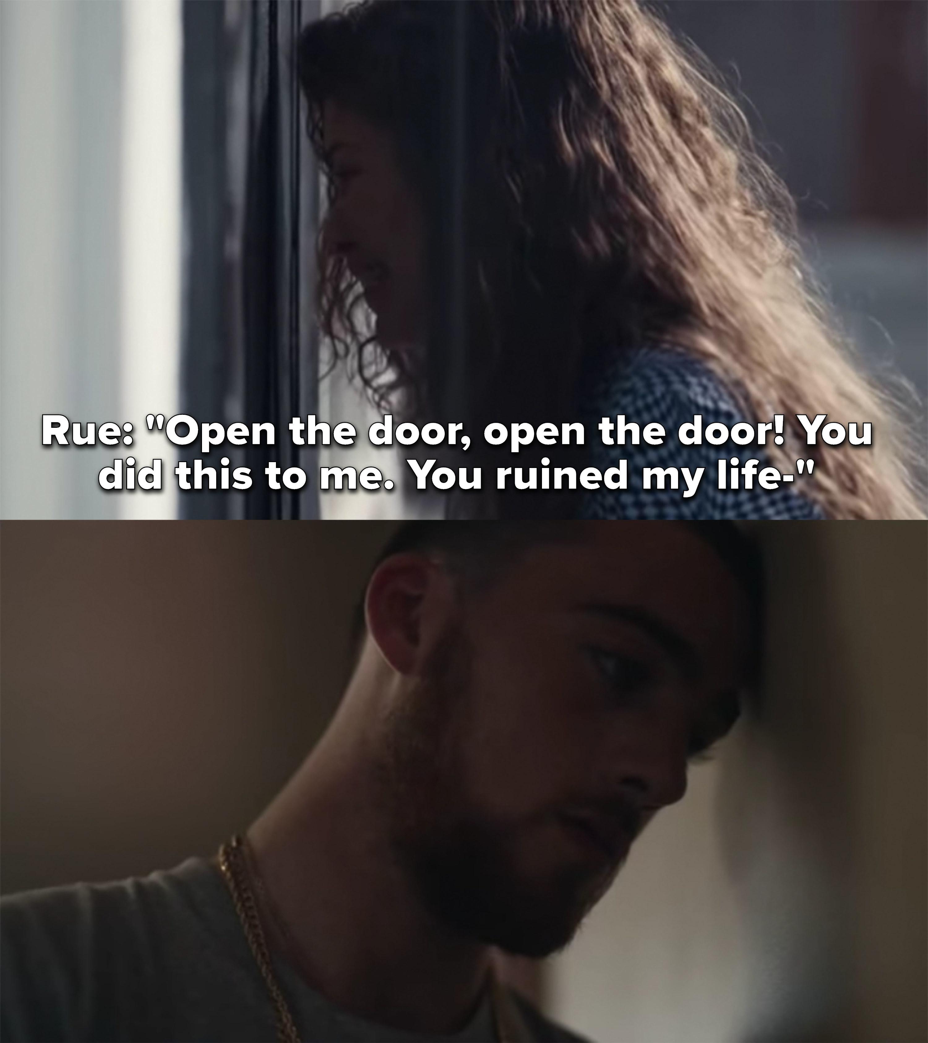"""Rue pounds on Fez's door: """"Open the door, open the door, you did this to me, you ruined my life"""""""