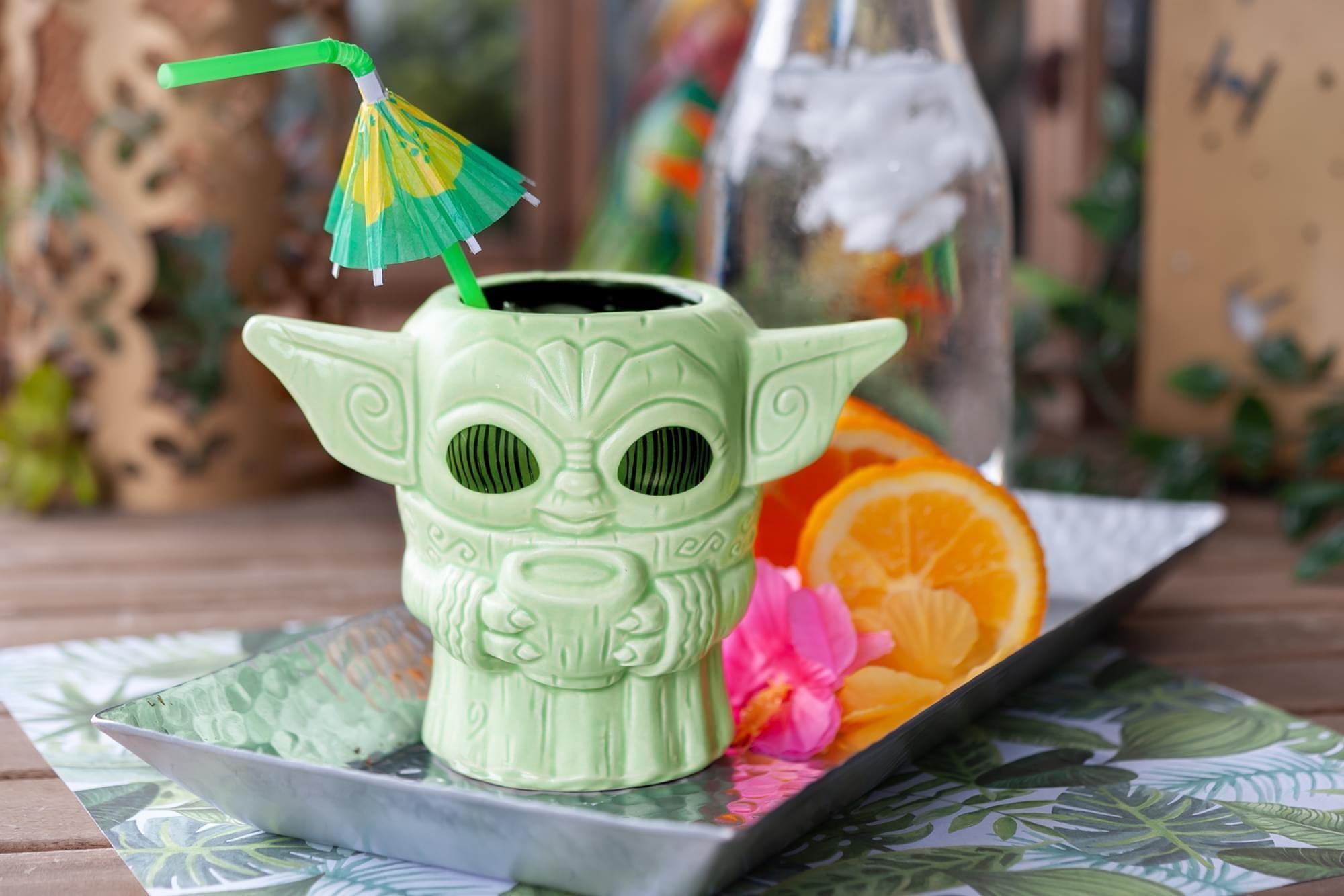 The green handle-less mug shaped like The Child