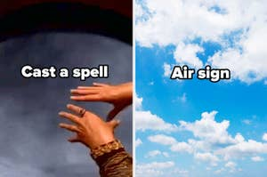 cast a spell, air sign and clouds