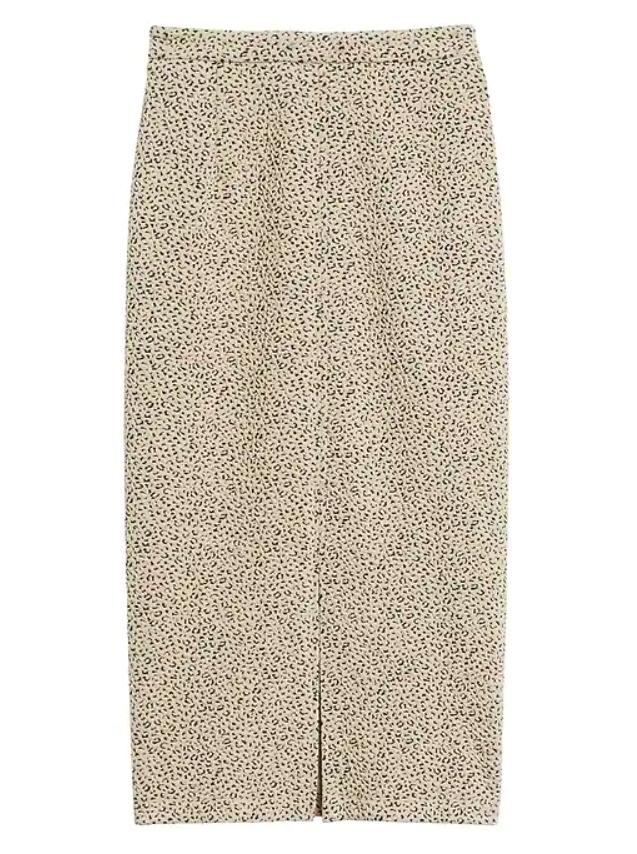 the skirt in cream leopard print