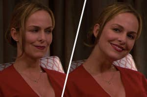 Jan Levinson giving Pam a side eye and a fake smile