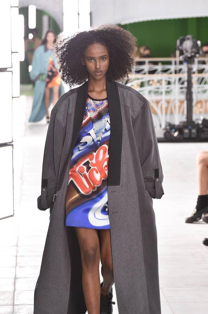 A model walks the runway during the Louis Vuitton Womenswear Spring/Summer 2021 show