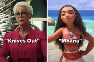"Linda in ""Knives Out"" and Moana"