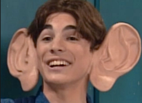 Josh Server with huge ears in an All That skit.