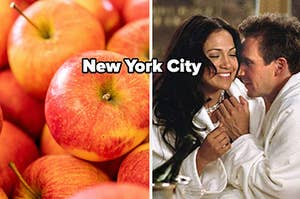 red apples and new york city
