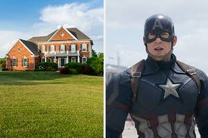 a house and captain america