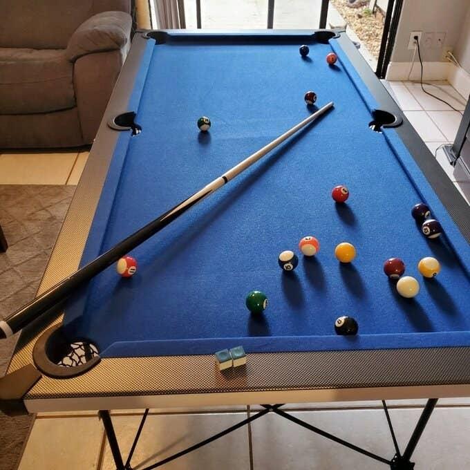 The portable folding pool table