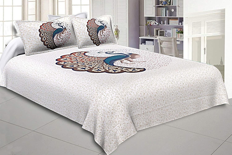 A peacock bedsheet