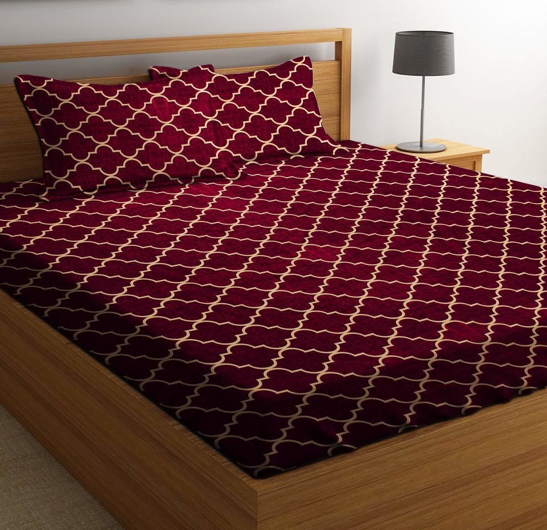 A red bedsheet