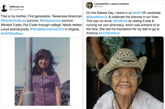 Asian Americans Are Sharing Photos Of Their Families And Other Influential Women In Honor Of Kamala Harris's VP Debate